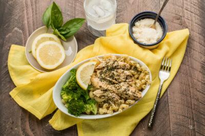 Slow Cooker Lemon Pesto Chicken {Freezer Meal Friendly}