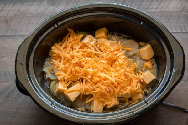 Copycat Marie Callender's Potato Cheese Soup {Slow Cooker}