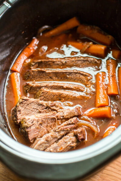 Slow Cooker Red Wine Beef Brisket