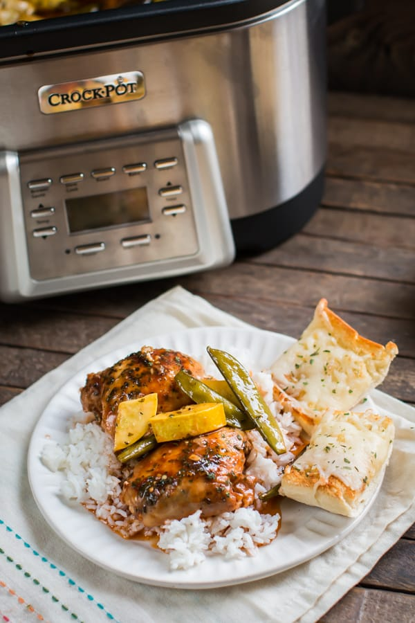 Slow Cooker Sweet and Spicy Chicken with Veggies - The Magical Slow ...