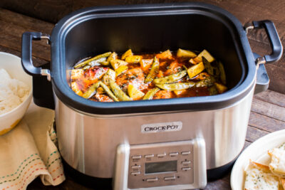 Slow Cooker Sweet and Spicy Chicken with Veggies