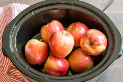 Slow Cooker Maple Cardamom Apples with Puff Pastry