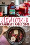 collage of cranberry cider photos for pinterest