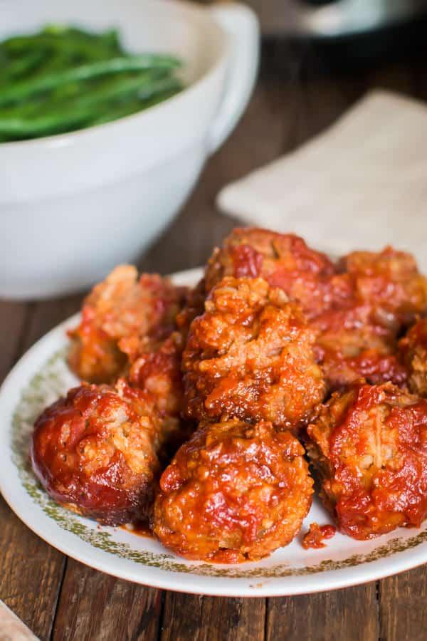 Slow Cooker Porcupine Meatballs
