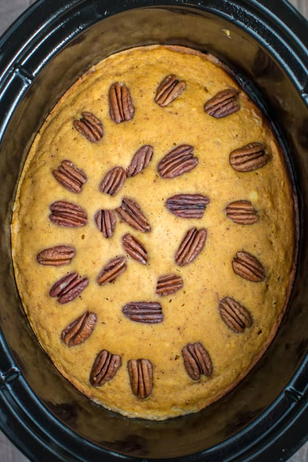 Slow Cooker Pumpkin Spoon Cake