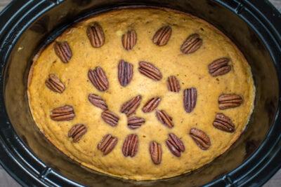 Slow Cooker Pumpkin Spoon Cake