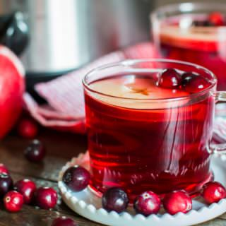 cranberry apple cider in a mug