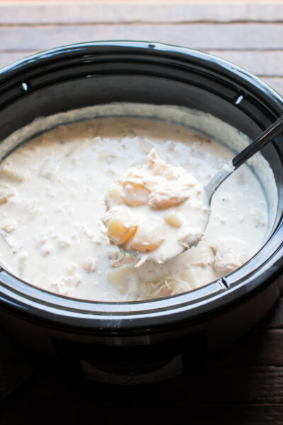 Slow Cooker Loaded Chicken Bacon Potato Soup