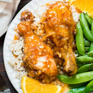 Slow Cooker Orange Chicken Drumsticks {Freezer Meal Friendly}