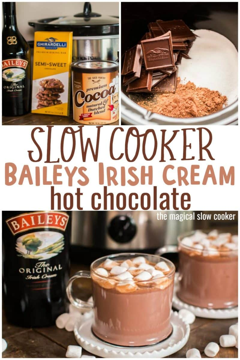 collage of baileys hot chocolate images for pinterest