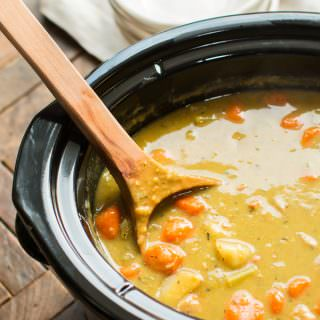Slow Cooker Split Pea Stew