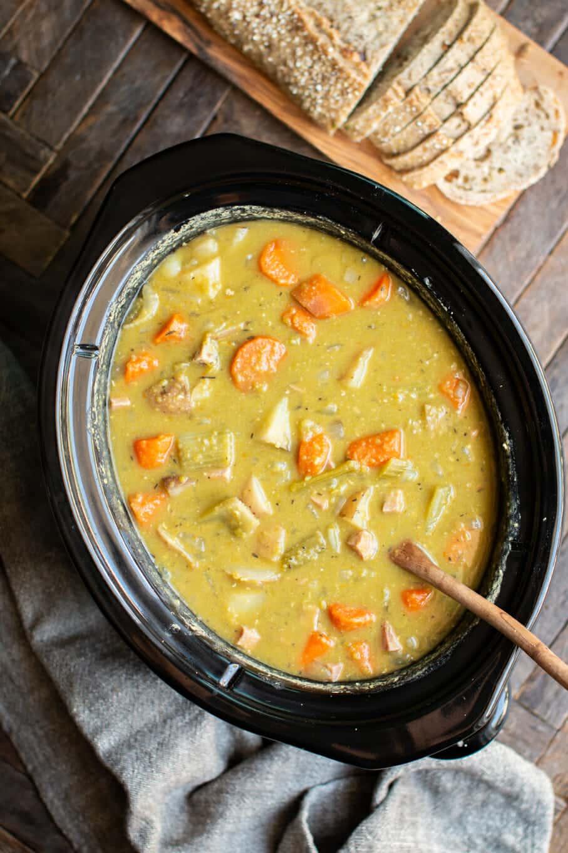 Slow Cooker Split Pea Stew