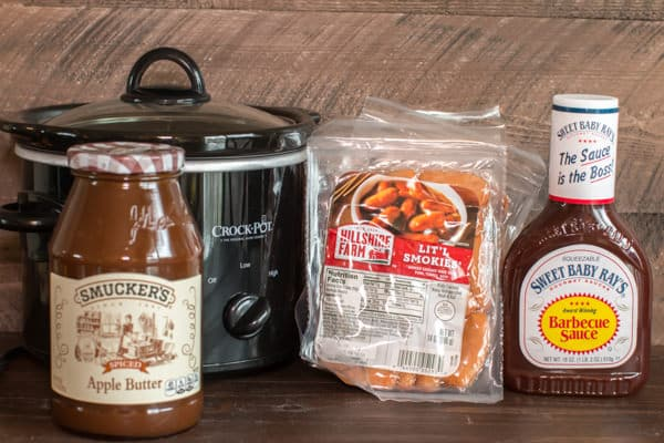 Slow Cooker Apple Butter Little Smokies