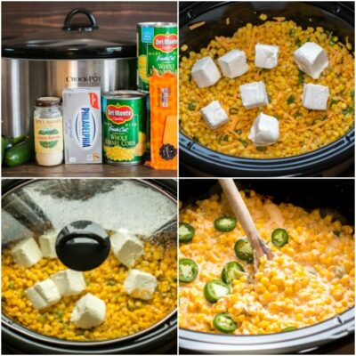 Slow Cooker Cheesy Jalapeno Corn