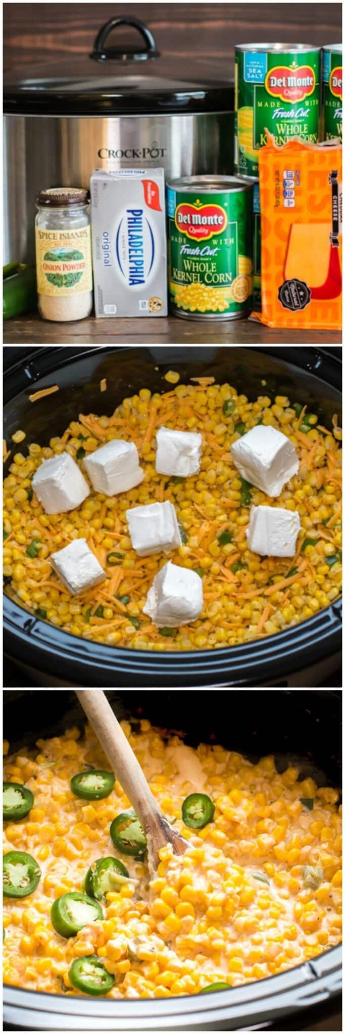 Slow Cooker Cheesy Jalapeno Corn