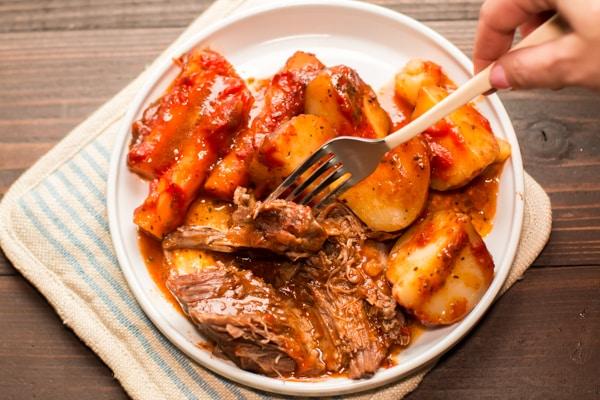 Slow Cooker Italian Beef Dinner