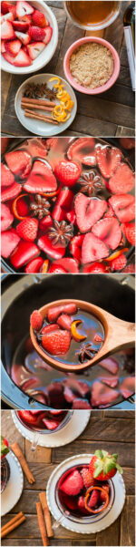 Slow Cooker Strawberry Mulled Wine