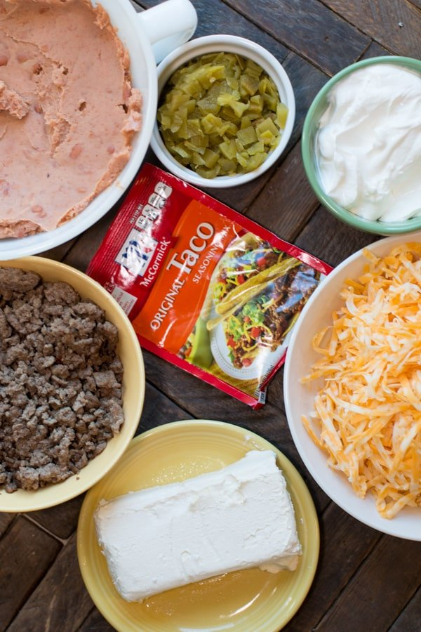 Slow Cooker Texas Trash Beef and Bean Dip