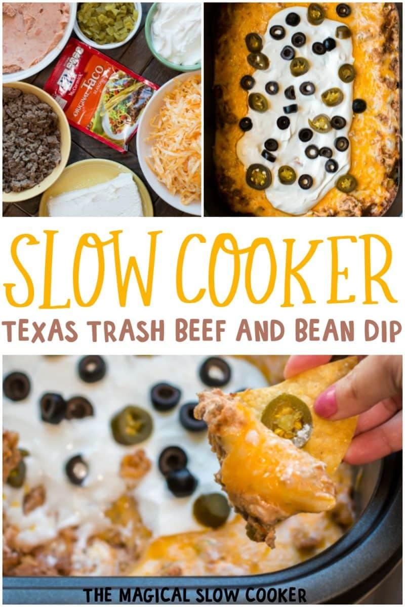 collage of texas trash dip photos for pinterest