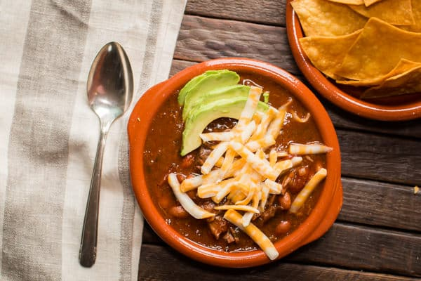 Slow Cooker Beef Enchilada Chili