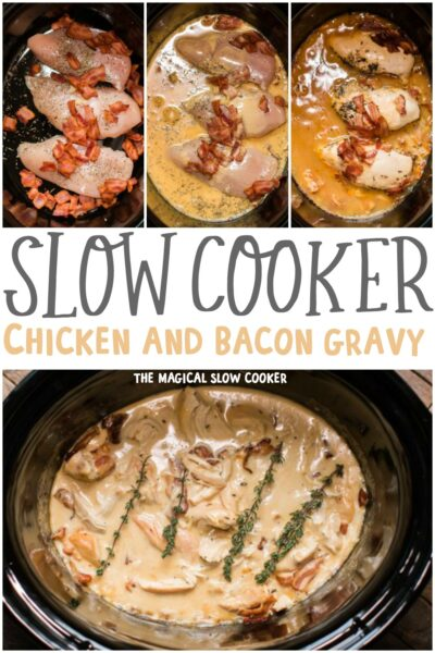 Slow Cooker Chicken and Bacon Gravy