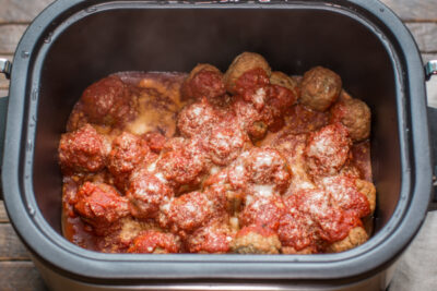 Slow Cooker Easy Meatball Sliders