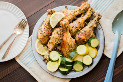 Slow Cooker Marintated Greek Drumsticks