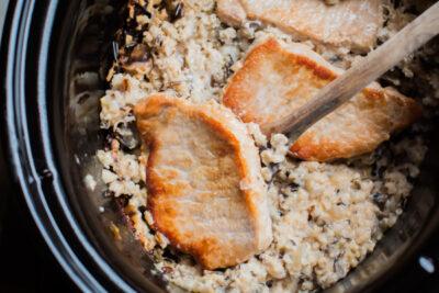 Slow Cooker Minnesota Pork Chop Casserole