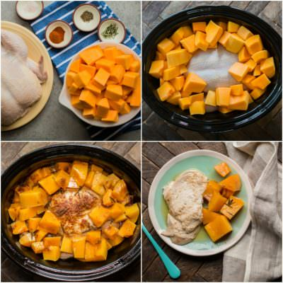 Slow Cooker Rosemary Chicken and Butternut Squash