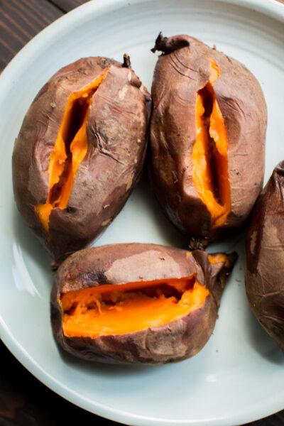 Slow Cooker Pulled Pork Stuffed Sweet Potatoes