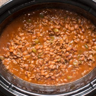 cowboy baked beans in a crockpot