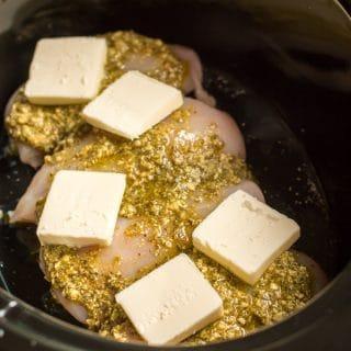 Slow Cooker Pesto Mozzarella Chicken