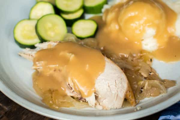 Slow Cooker Engagement Chicken with Gravy