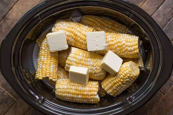 corn on the cob with butter and coconut milk