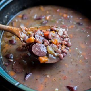 Slow Cooker Black Bean and Kielbasa Soup