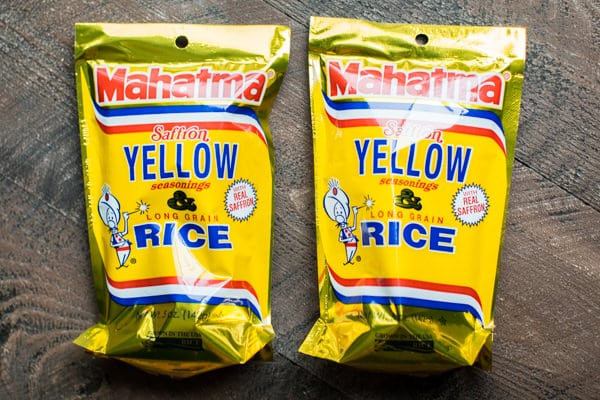 2 bags of Yellow Rice from Mahatma