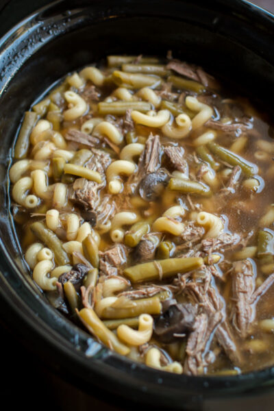 Slow Cooker French Dip Soup