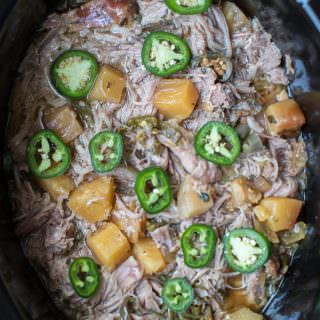 Slow Cooker Pineapple Jalapeno Pork Tacos