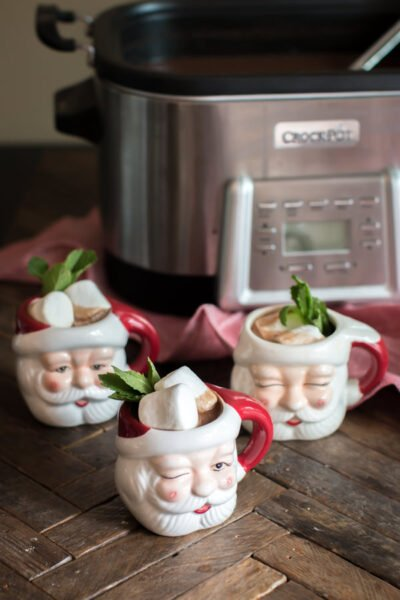Slow Cooker Mint Hot Chocolate