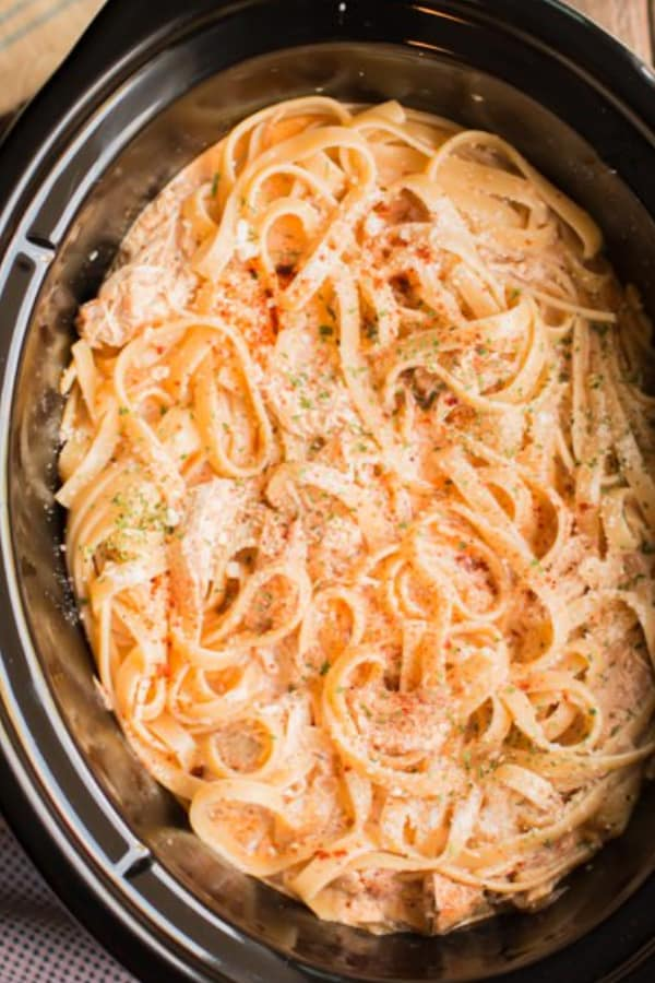 Slow Cooker Cajun Chicken Fettuccinne