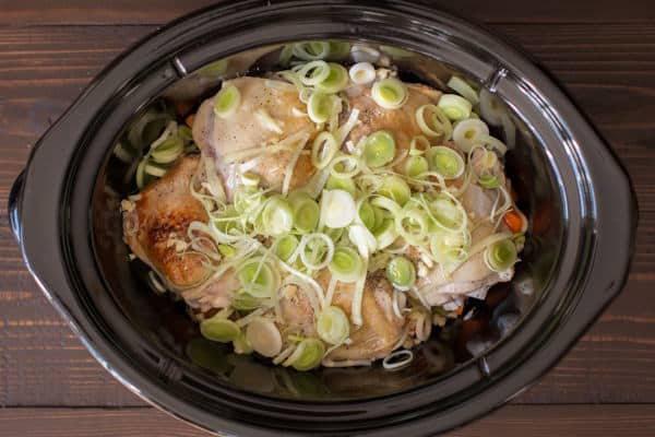 Slow Cooker Leek Chicken