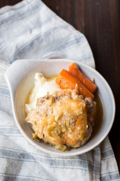 Slow Cooker Leek Chicken