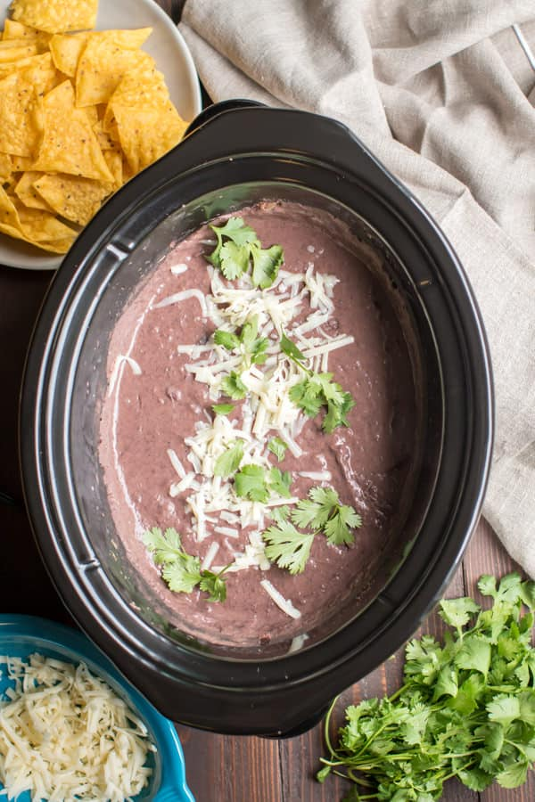 Slow Cooker Refried Black Beans The Magical Slow Cooker