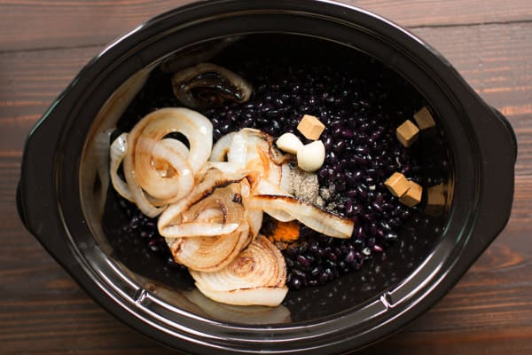 Slow Cooker Refried Black Beans - The Magical Slow Cooker