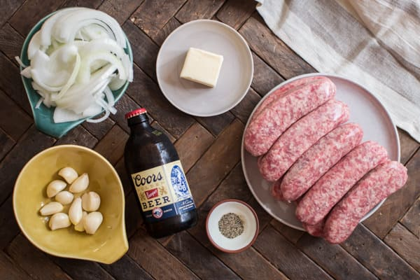 Slow Cooker Beer and Garlic Brats