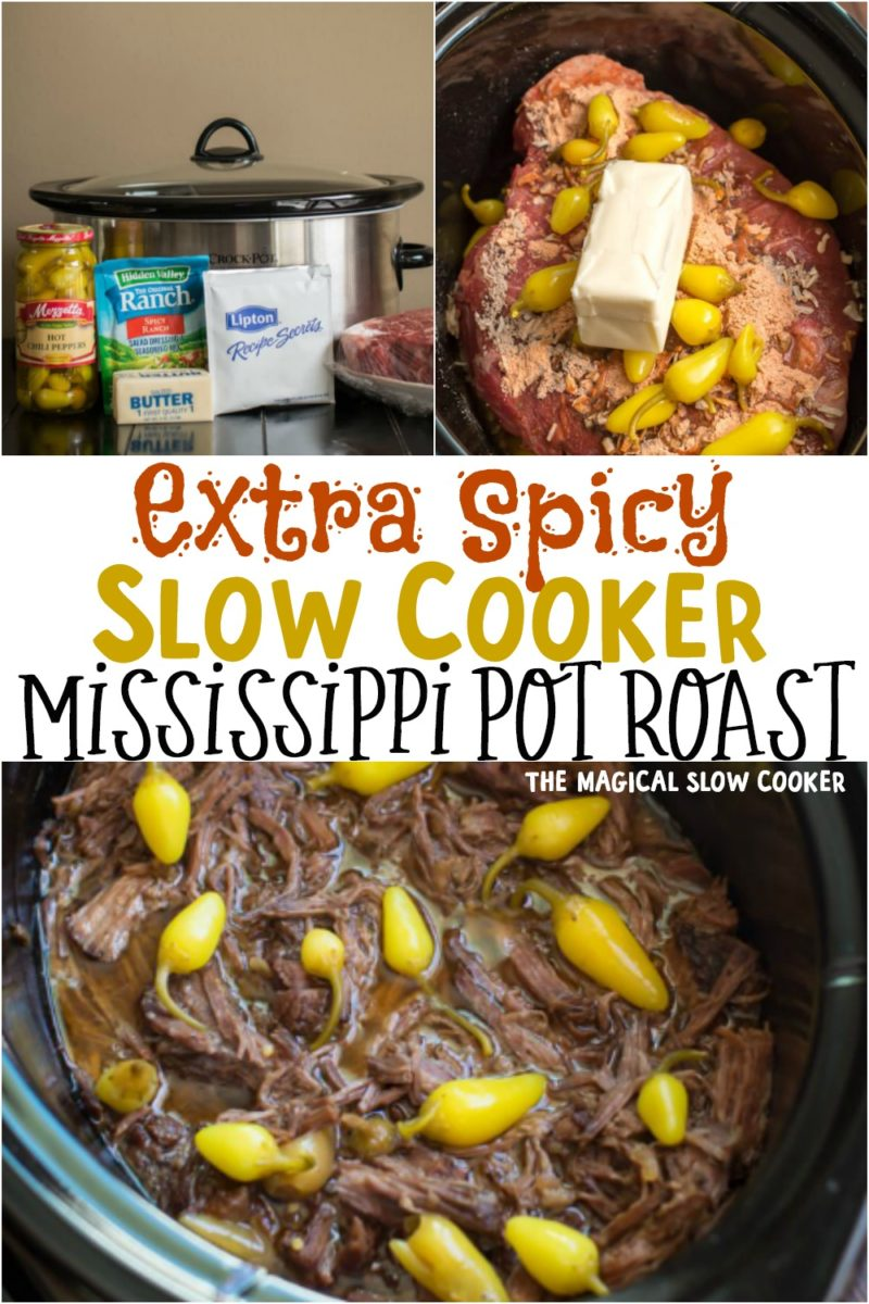 collage of spicy mississippi pot roast images for pinterest