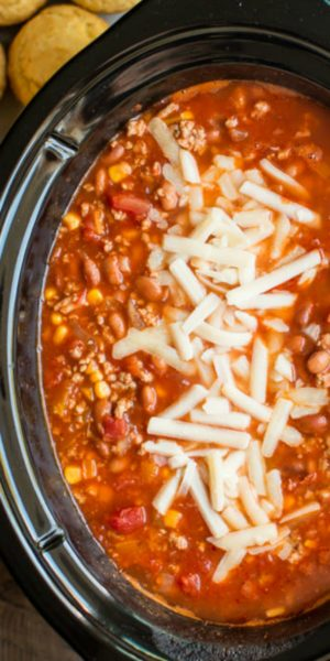 Slow Cooker Chiptole Turkey Chili