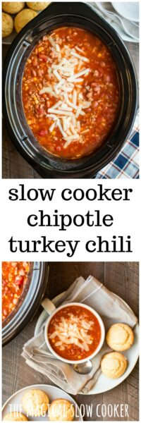 Slow Cooker Chipotle Turkey Chili