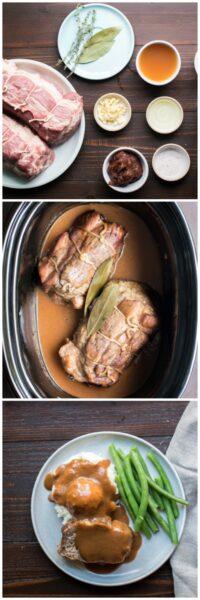 Slow Cooker Cider Braised Pork Roast