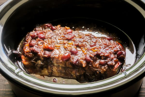 Slow Cooker Cranberry Pork Loin